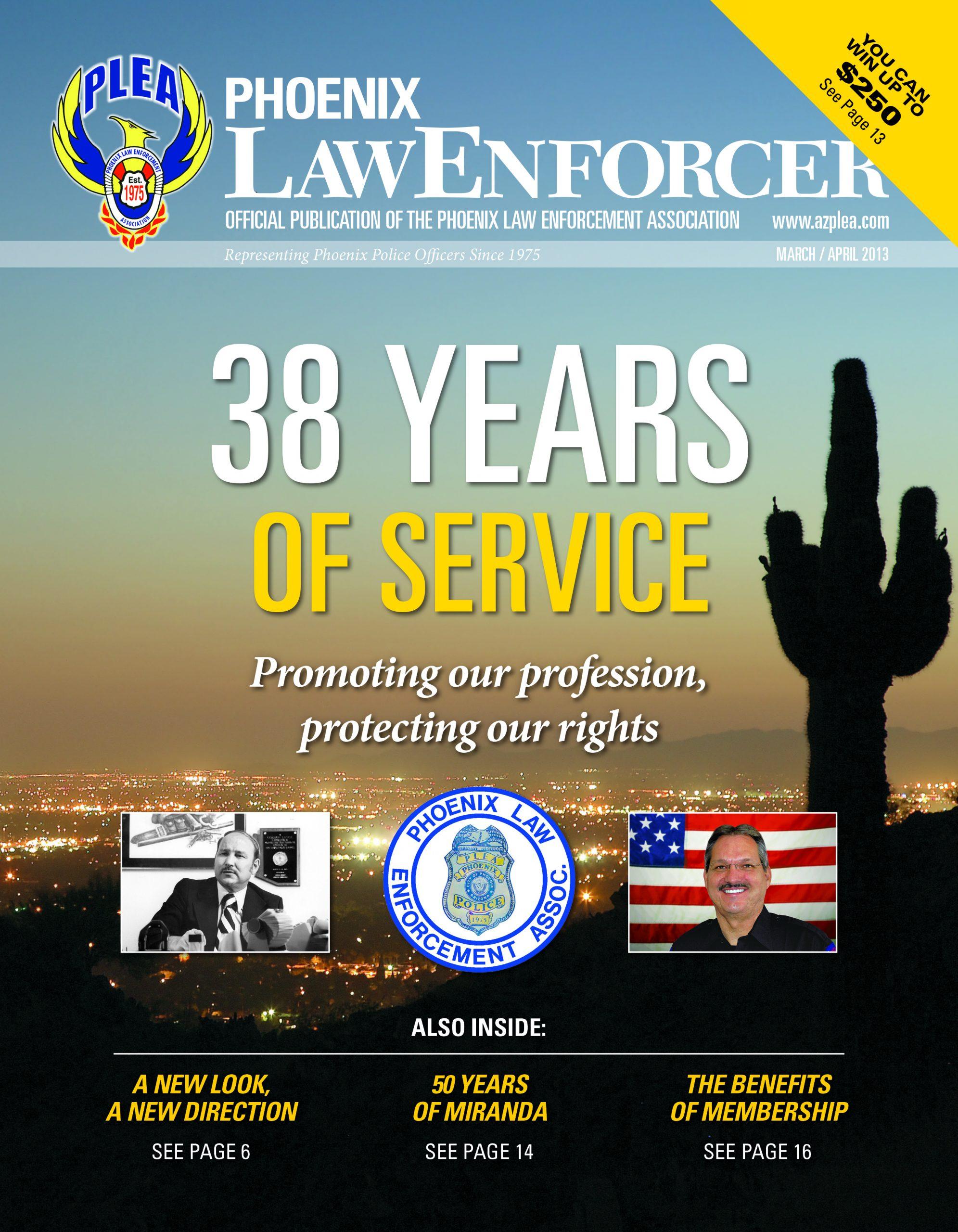 Phoenix Law Enforcer –March/April 2013