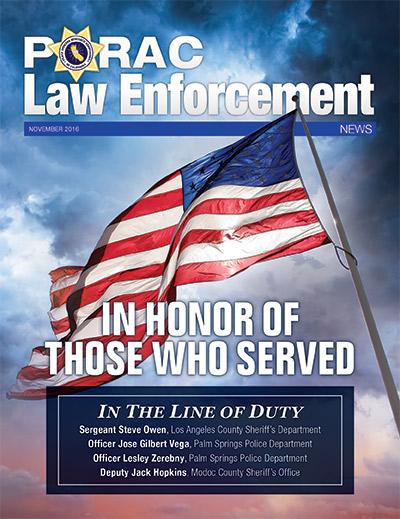 PORAC Law Enforcement News – November 2016