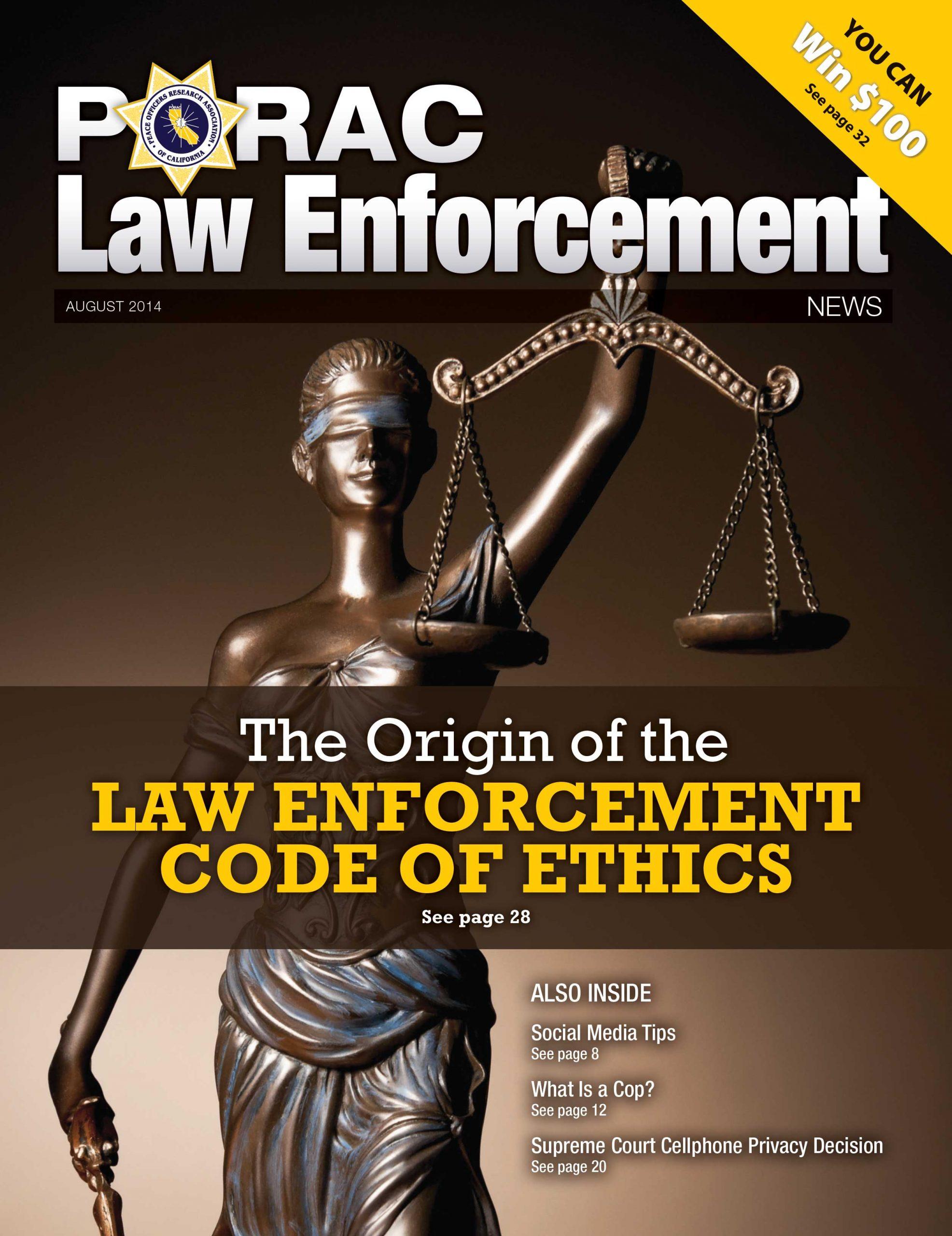 PORAC Law Enforcement News – August 2014