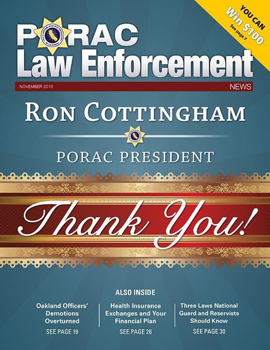 PORAC Law Enforcement News – November 2013